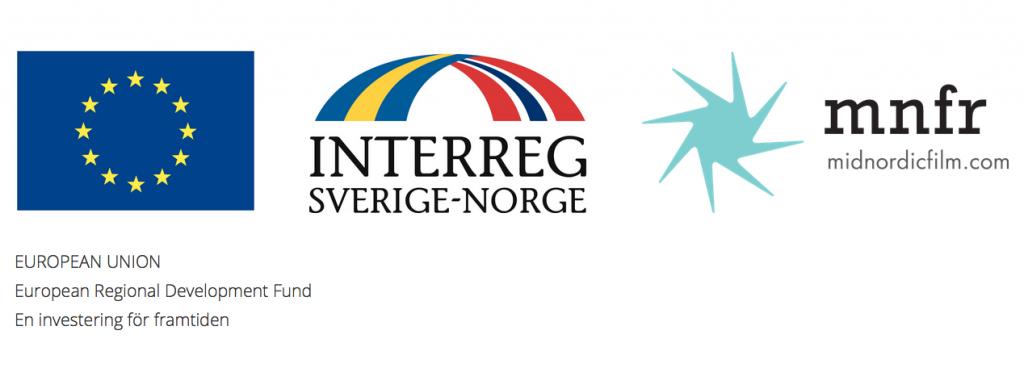 Logotyper: European Union, Interreg Sverige Norge samt Midnordicfilm